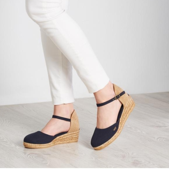 64cc0b2f425 Viscata Canet Canvas Espadrille Wedges Navy 38